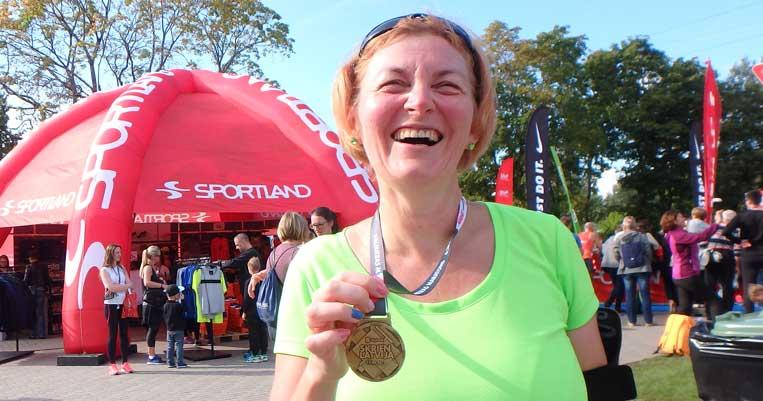 ilona tropa valmieras maratons 2017 valmiera šosejas skriešana